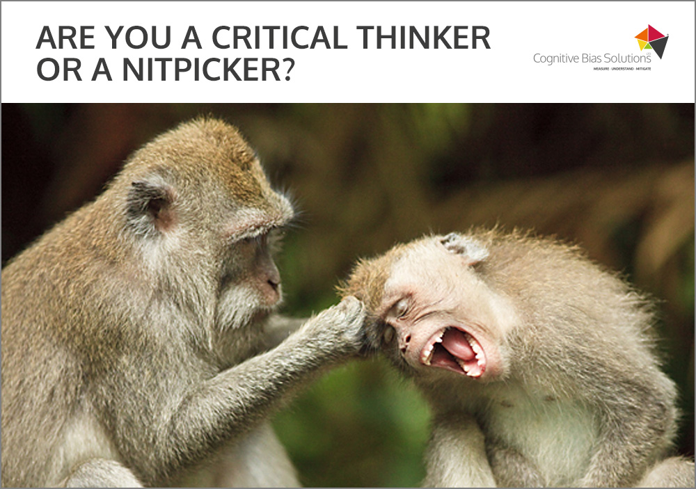 Cognitive Bias Solutions - Nitpicker or critical thinker